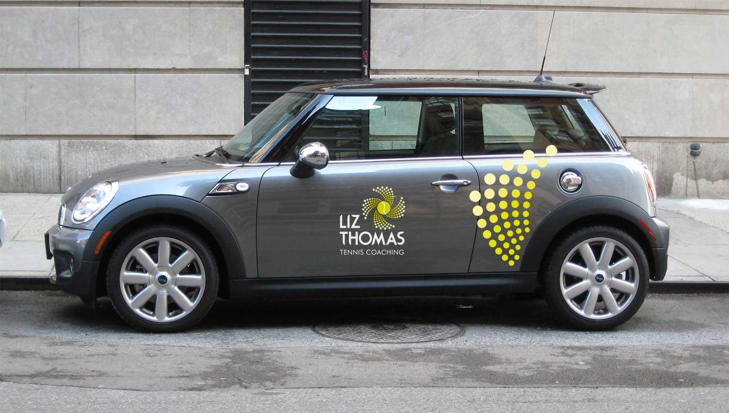 Liz Thomas Brand Identity - Vehicle graphics